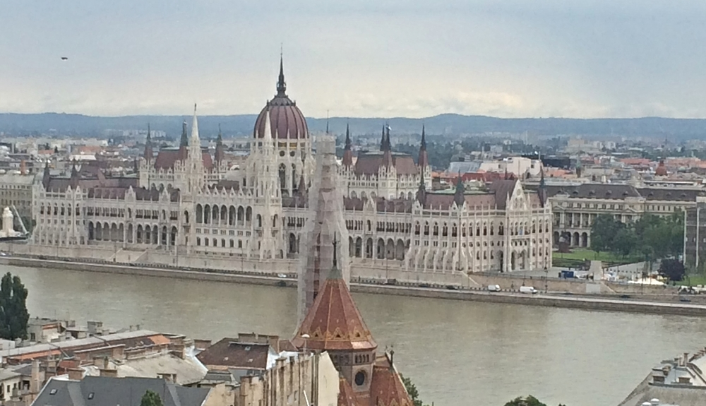 The iconic view of the Hungarian Parliament Building from Buda hill.