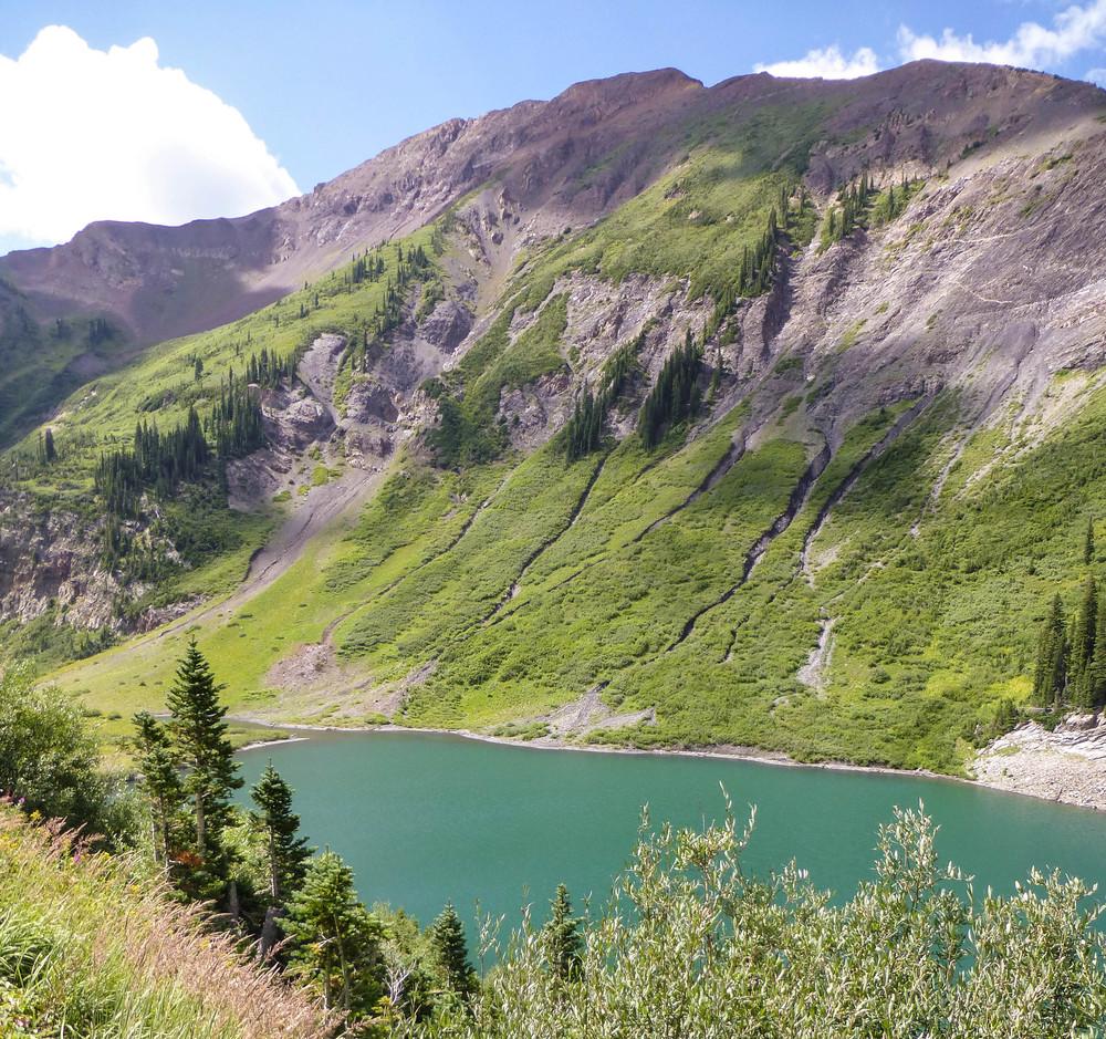 Emerald Lake, where I nearly slid off the road....