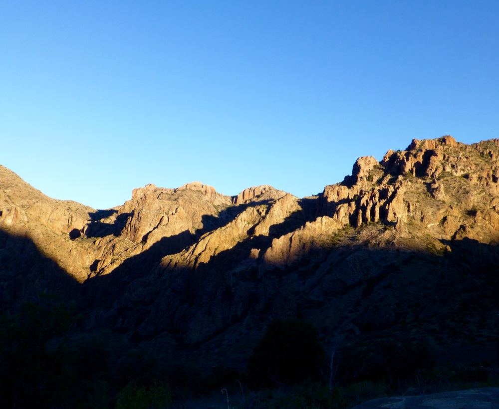 Dawn comes to Chisos Basin