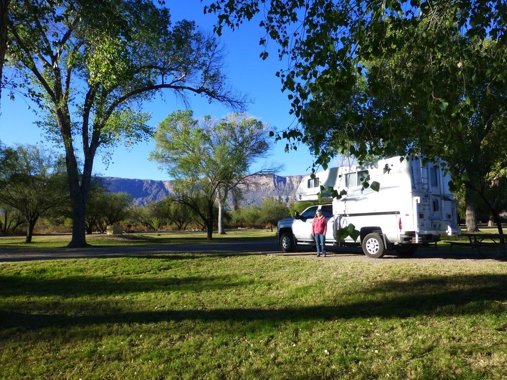 Our campsite at Cottonwood Campground, Castolon, Big Bend National Park