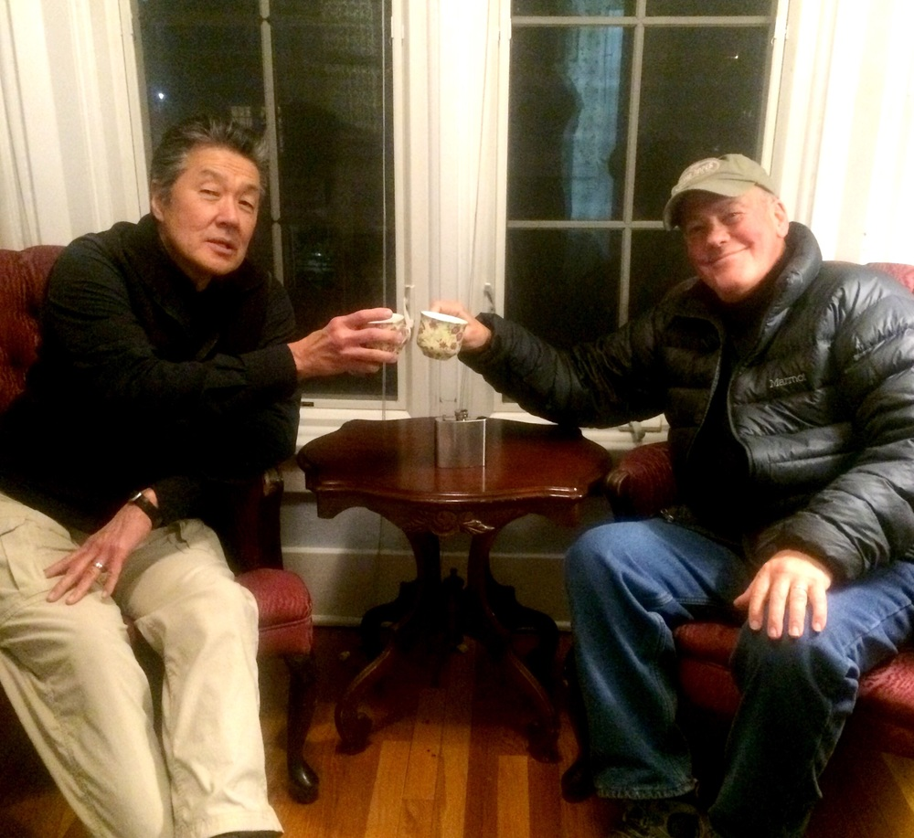 Sipping' scotch at our comfy B&B