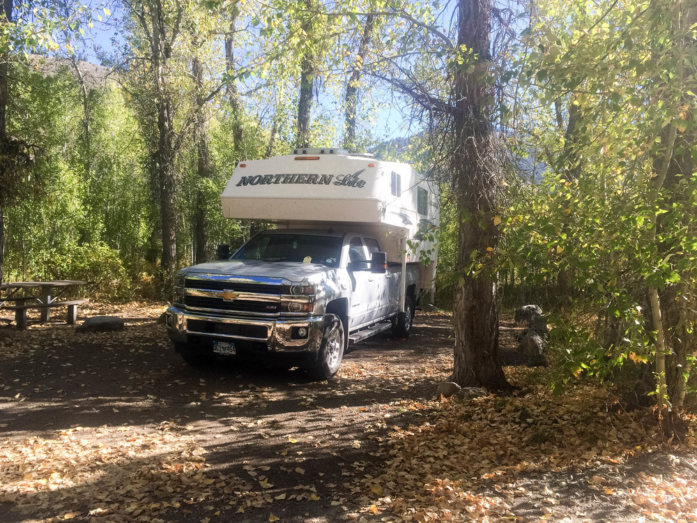 Sawtooth National Forest Campground on the Wood River