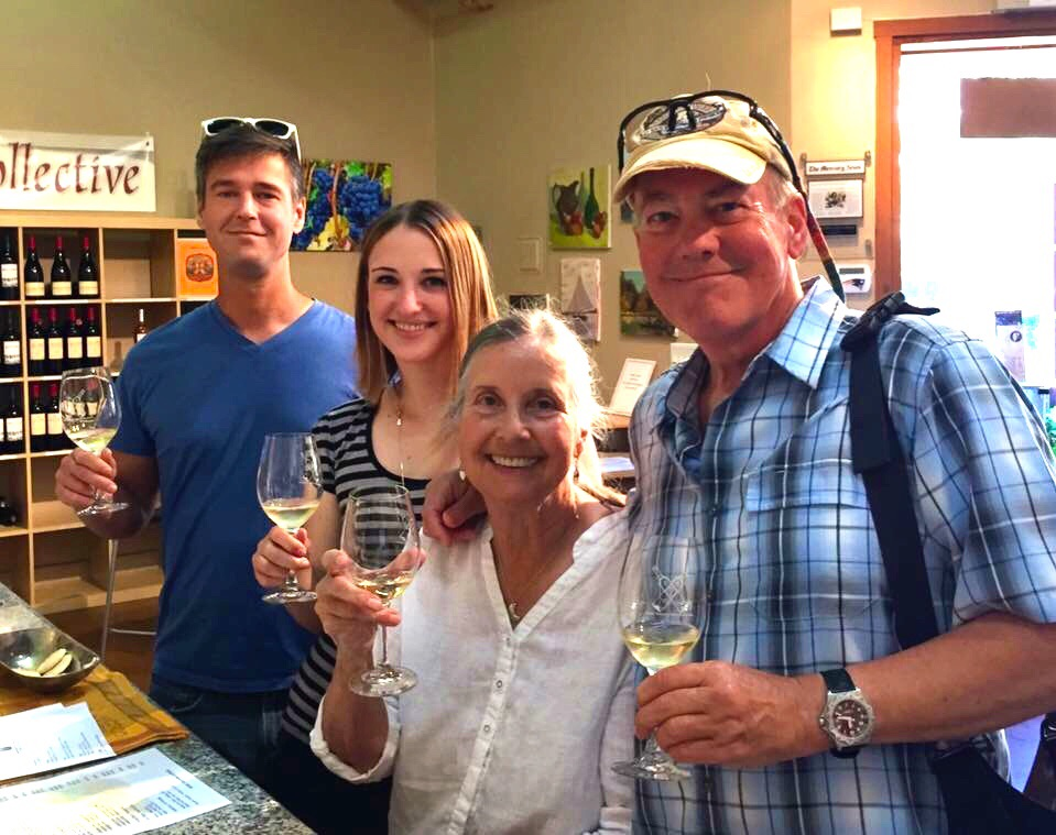 Wine tasting at two wineries and a wine coop in Saratoga.