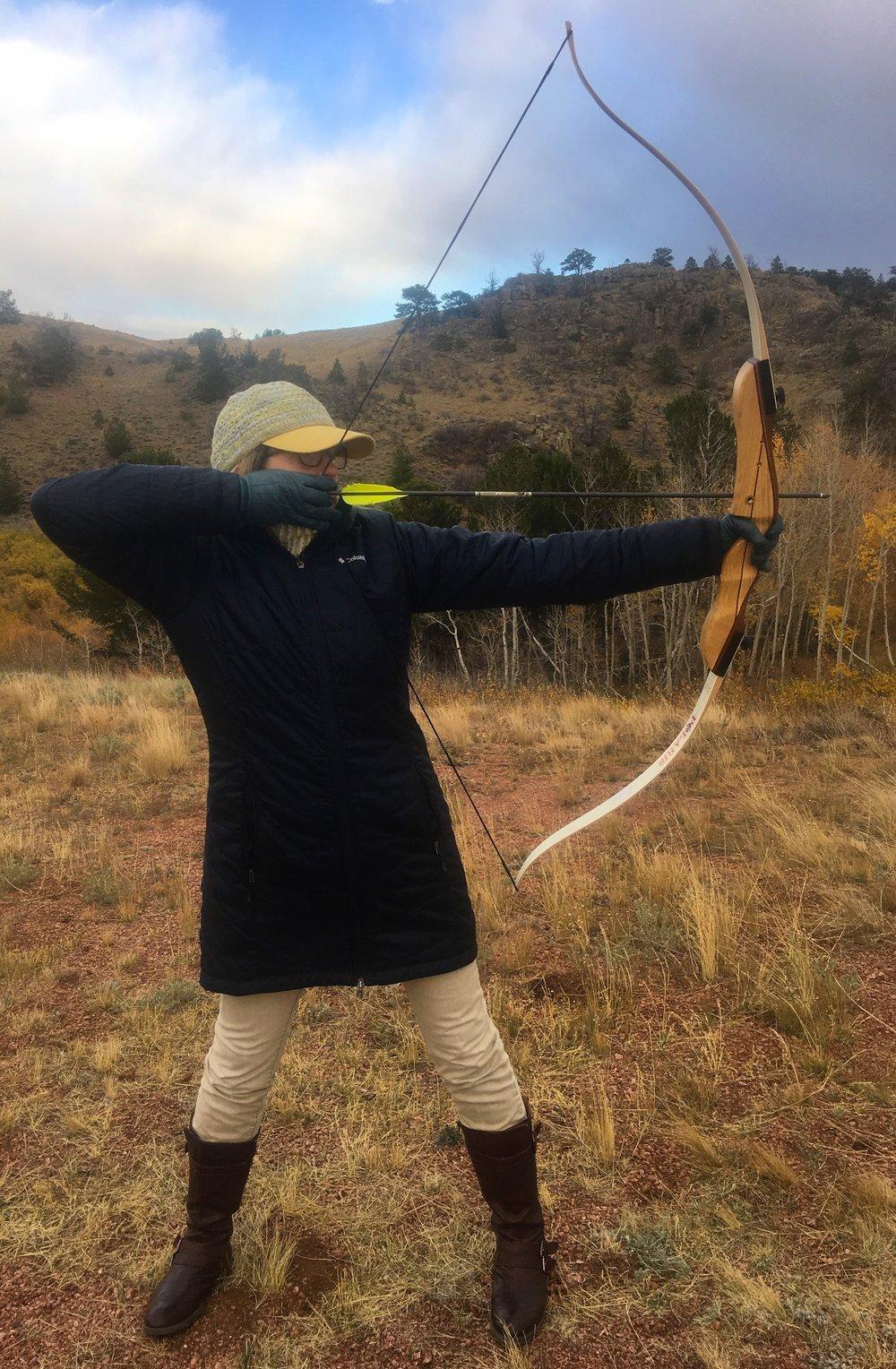 Diana (Barbara) the Roman goddess of the hunt gets a bullseye