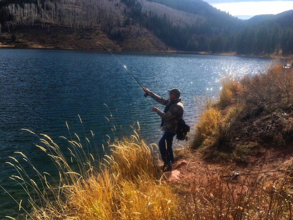 Fly fishing Sylvan Lake