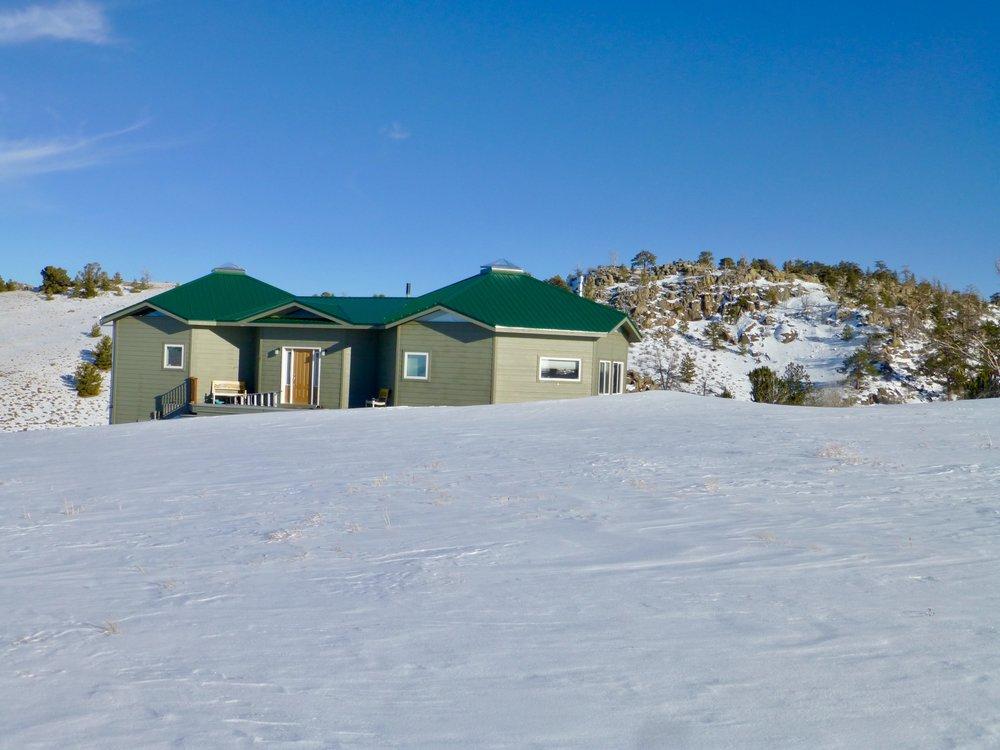Cabin snowscape
