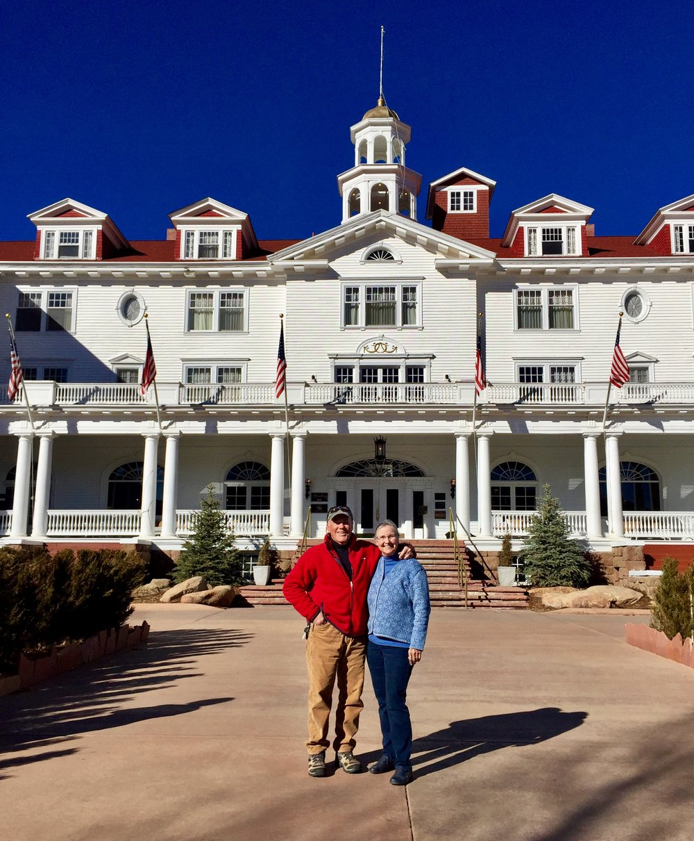 The Stanley Hotel's front entry