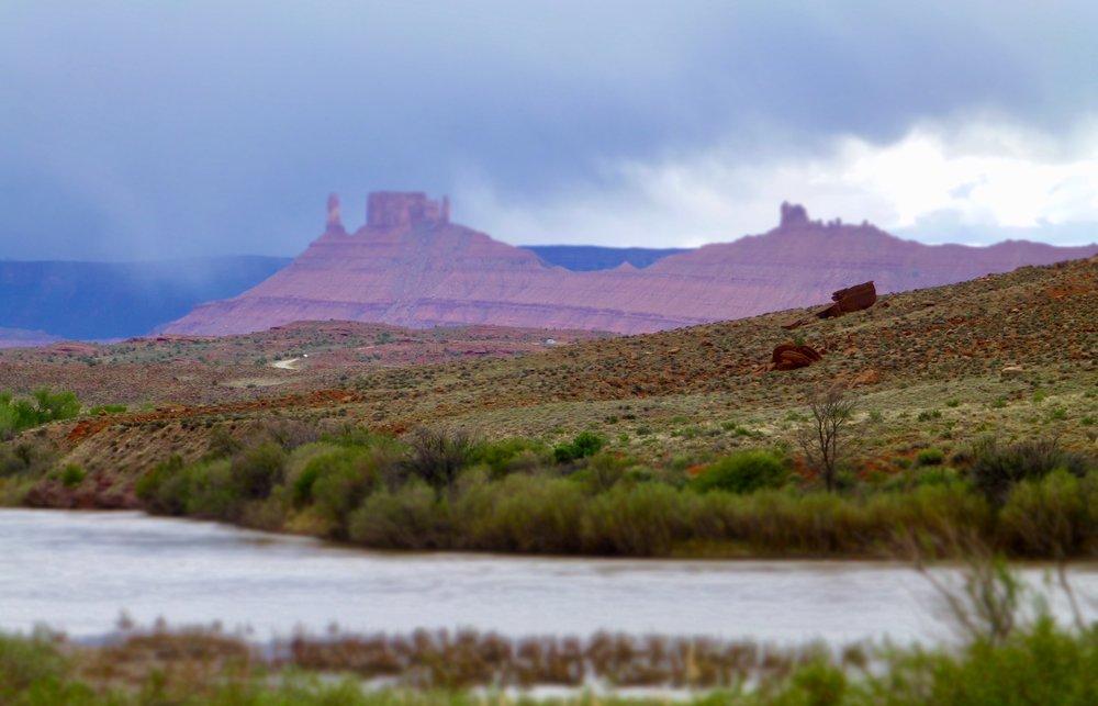 Beautiful Utah Highway 128 following the Colorado River