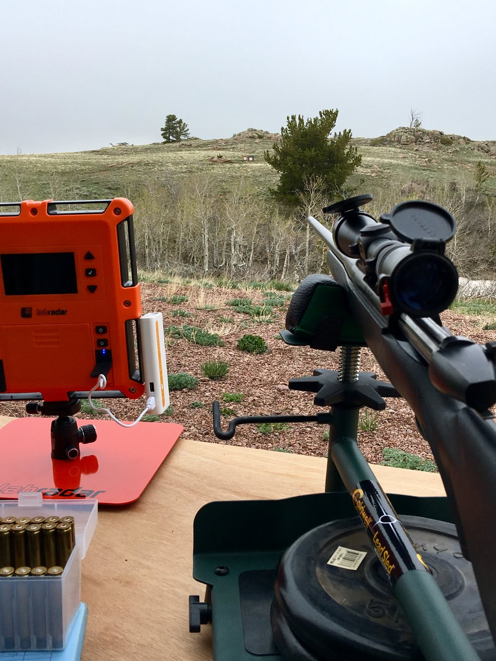 Labradar Chronograph and Lead Sled+ make shooting much mor fun and setup much less time consuming.
