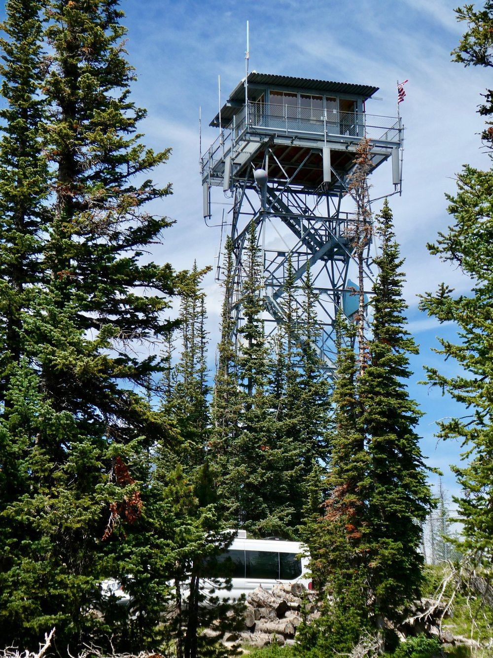 The Deadman Fire Lookout Tower, now open for tours.
