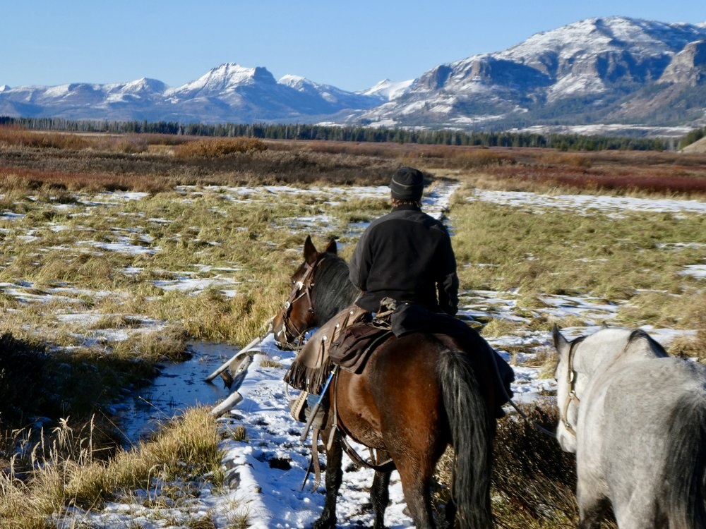 Nearly there!  Riding through the Yellowstone Valley, soon to cross the Yellowstone River, Hawk's Rest Mountain in the distance.