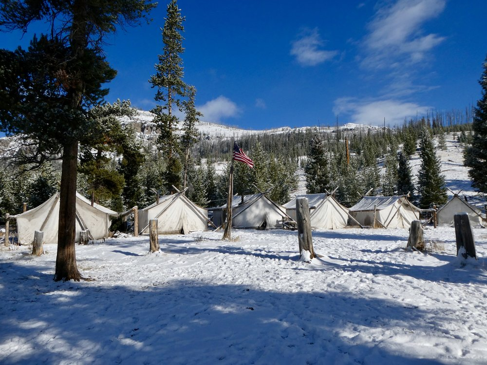 Tent camp in the Yellowstone Valley