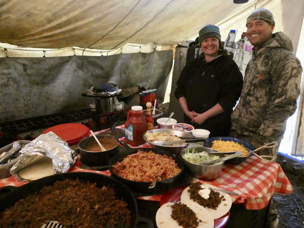 Our camp cook, Bridget, prepared excellent meals with very basic kitchen equipment