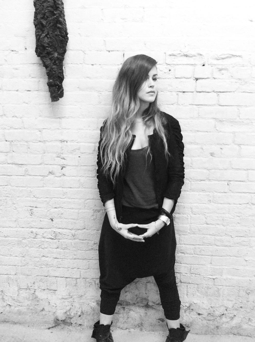 Halvorsen at her studio in Brooklyn, NY.
