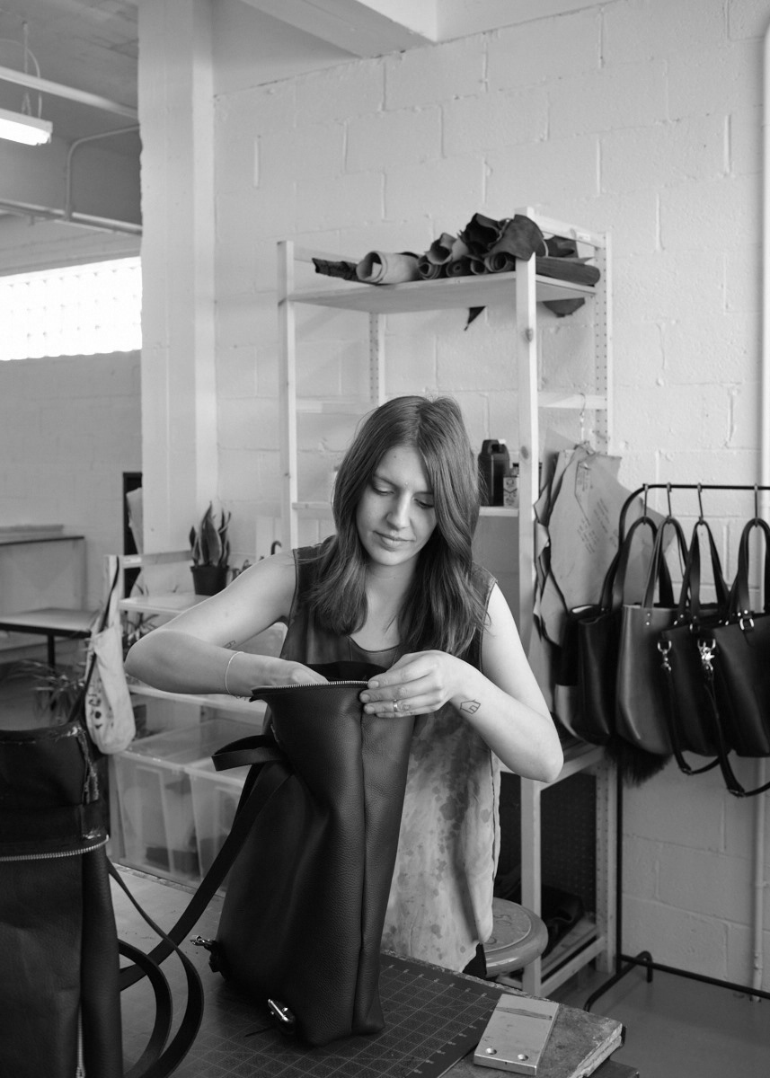 Molly Spittal at her studio.
