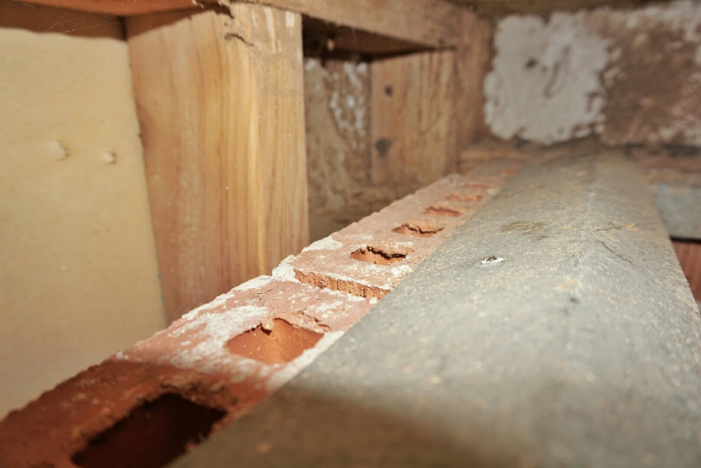This explains why termites get in without being seen -  the ant capping does not cover the full width of the brick! This  does not  meet the Australian standard for termite protection.