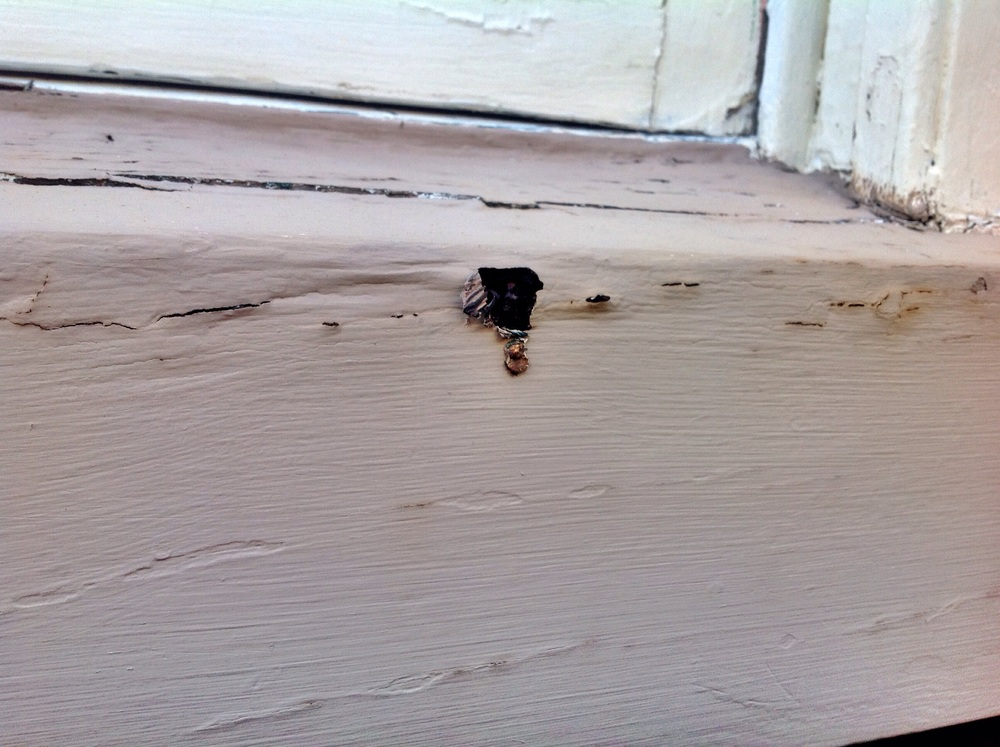 Sometimes damage will look a lot like termite damage, especially on painted surfaces, but in reality is nothing more than fungal decay (wood rot).