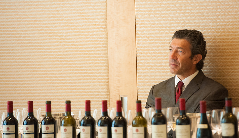 Gerard Bertrand, with some of the bottles we tasted in New York in 2013