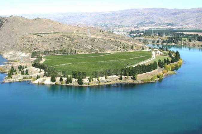 Felton Road's Cornish Point Vineyard, Central Otago, New Zealand