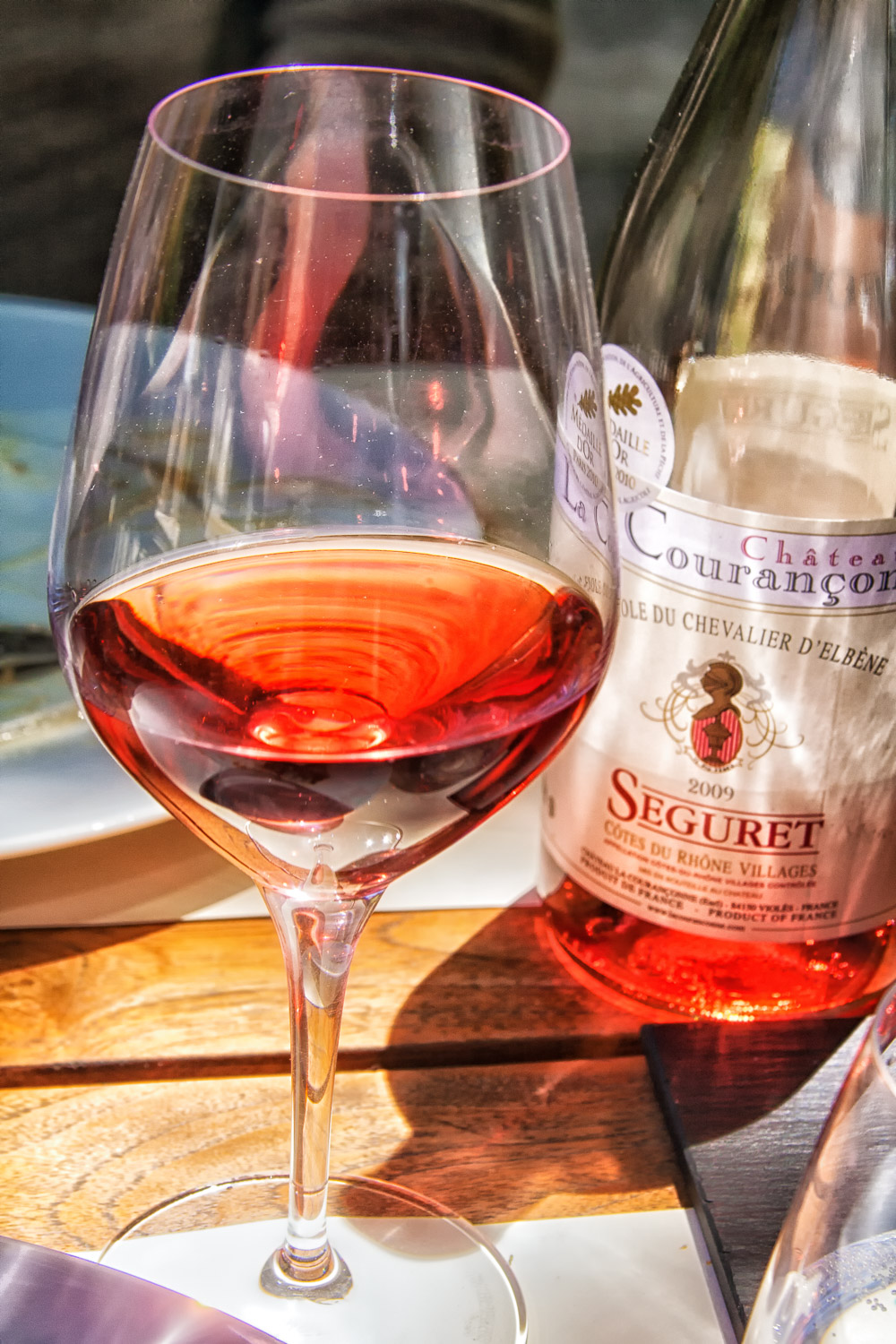 A deeply colored rosé from the Rhône Valley