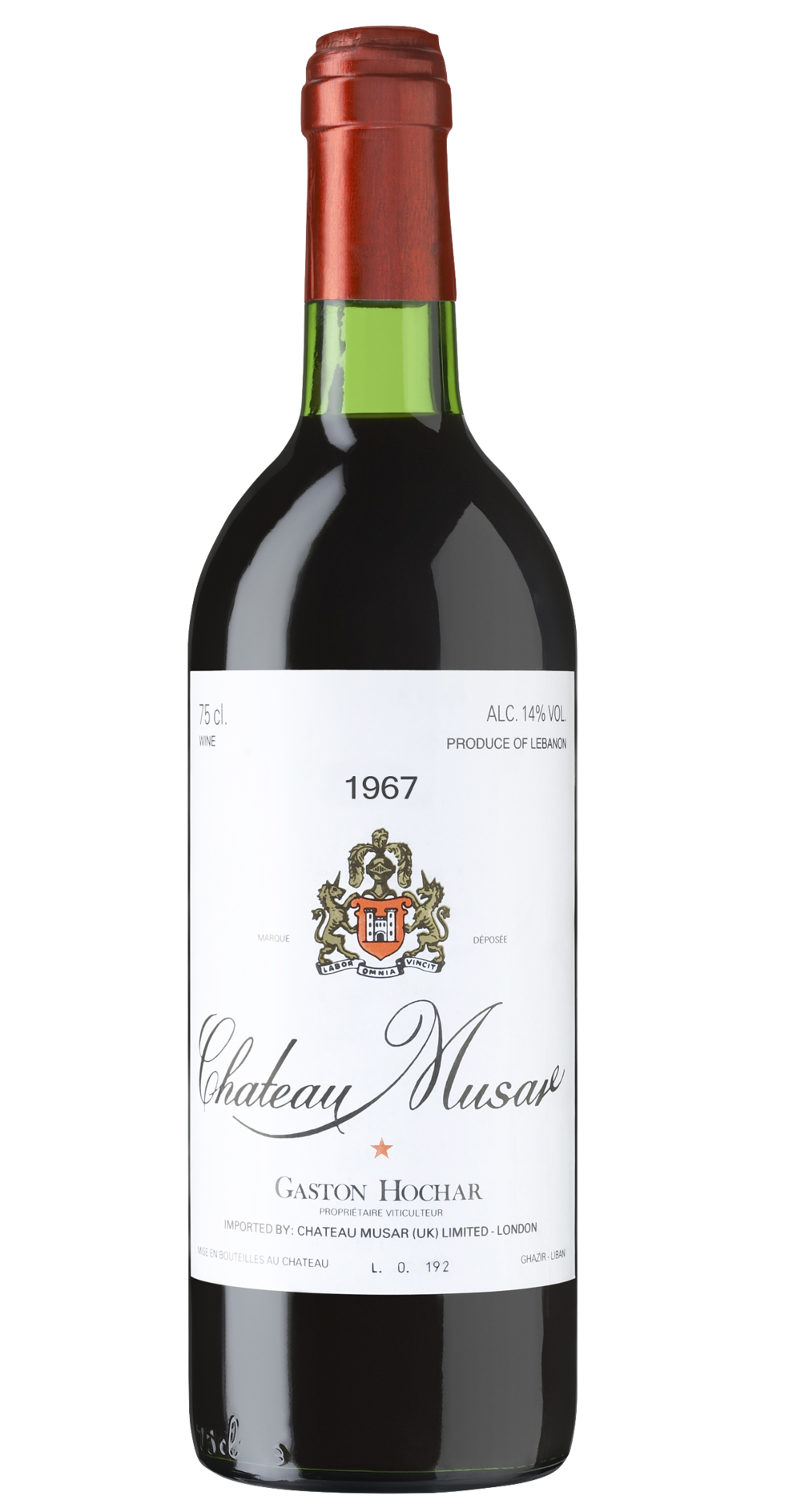 Chateau Musar 1967 - amazingly, still available in limited quantities