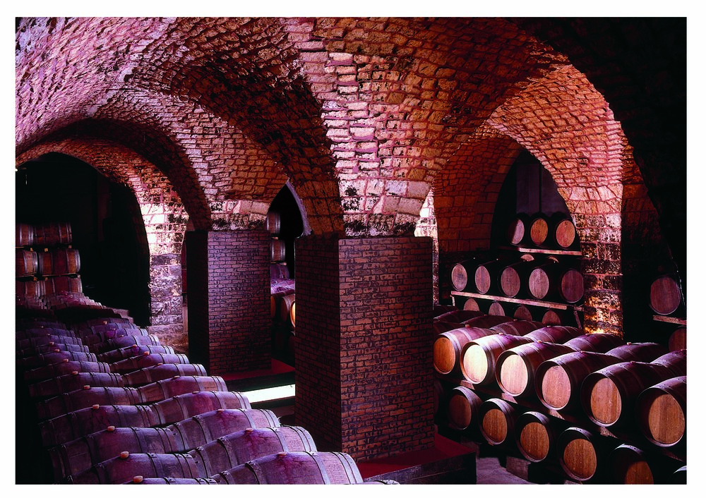 The cellars of Chateau Musar
