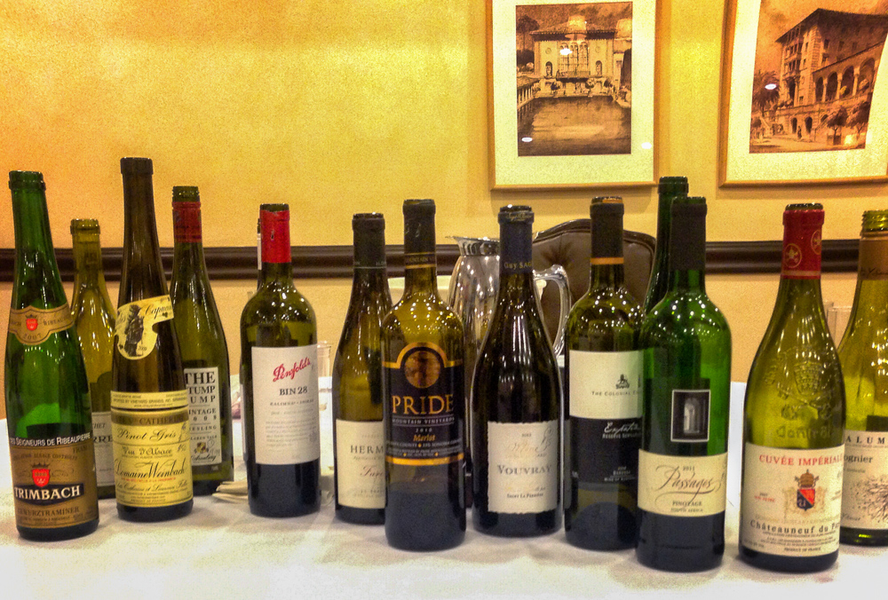 Some of the wines featured in one of the three days of the Level 2 course in November, 2014