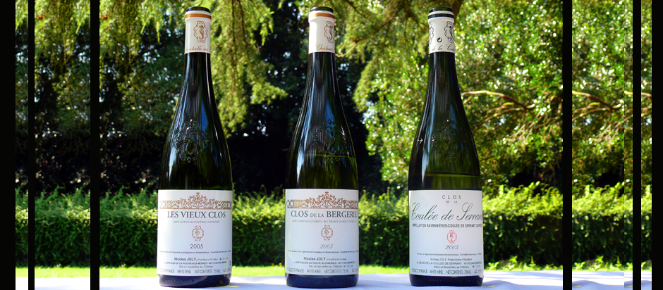 The wines of Nicolas Joly (Photo courtesy of Nicolas Joly)