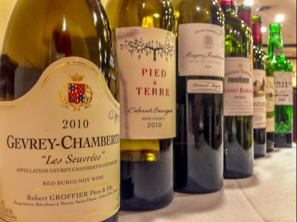 Wines from the last Level 1 class at the Biltmore