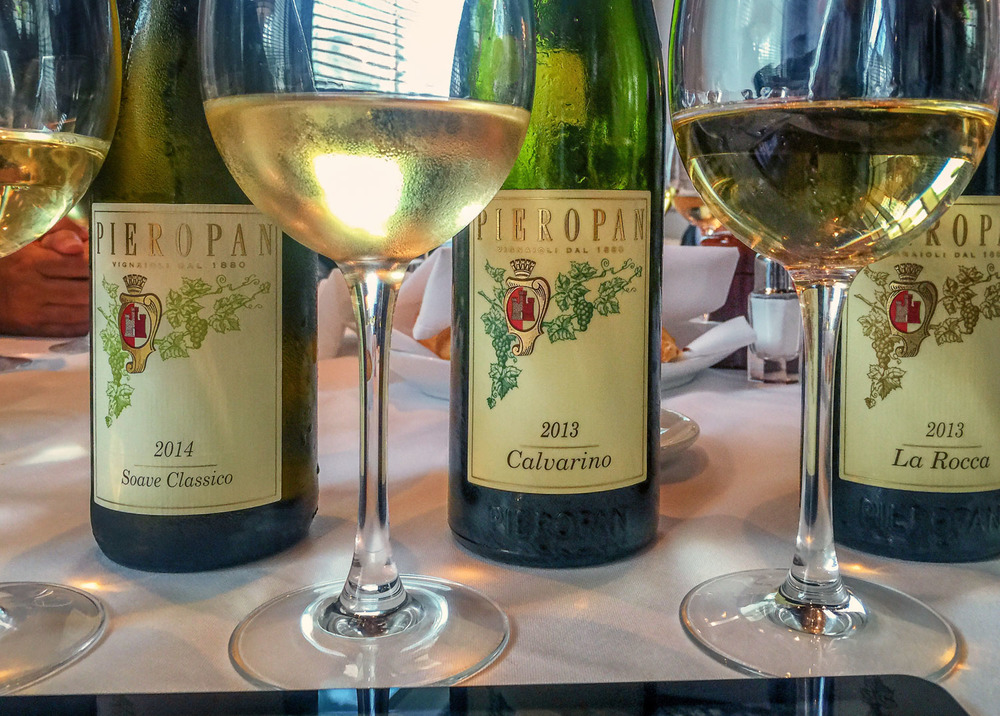 The three soave classico wines of Pieropan (photo: Lyn farmer)