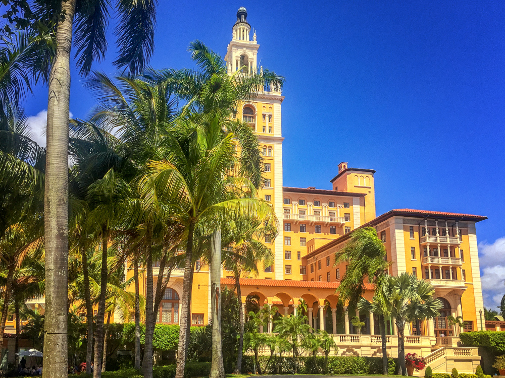 The BALTIMORE Hotel in Coral Gables, where the classes are held (The restaurants are good and parking is free!)