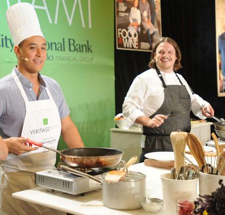 Chefs Alex Chang (l) and Brad Kilgore (r)