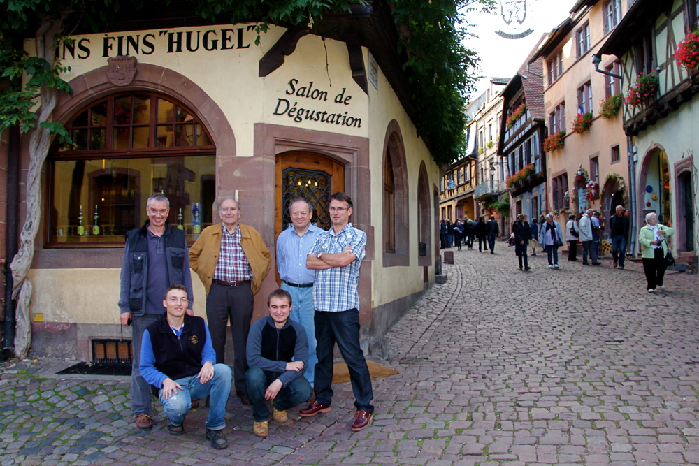 The 11th, 12th and 13th generations of the Hugel family at home in Riquewihr (Photo: Hugel)_