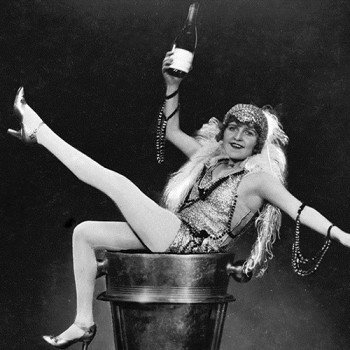 "Betty Balfour in Alfred Hitchcock's 1928 silent film ""Champagne"""