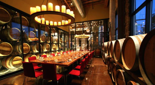 The Barrel room at City Winery in Chicago