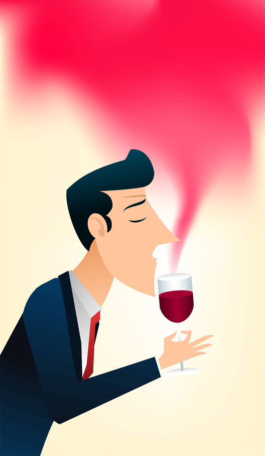 33787918 - gentleman enjoing the smell of a glass of good wine.