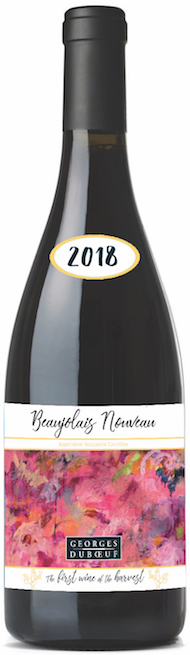 Artist Chloé Meyer won a contest to design the artwork for Georges Duboeuf's 2018 Beaujolais Nouveau (Photo: Georges Duboeuf)