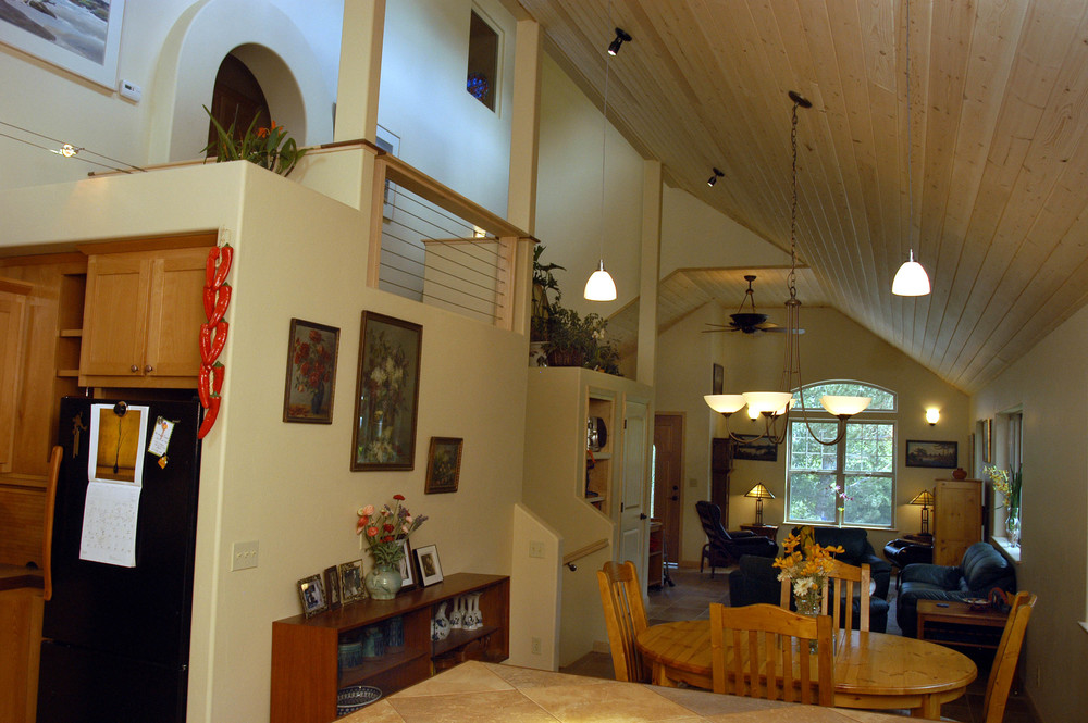 The owner regularly hold dinner parties, entertaining up to 30 people at a time in her 900 square foot house!