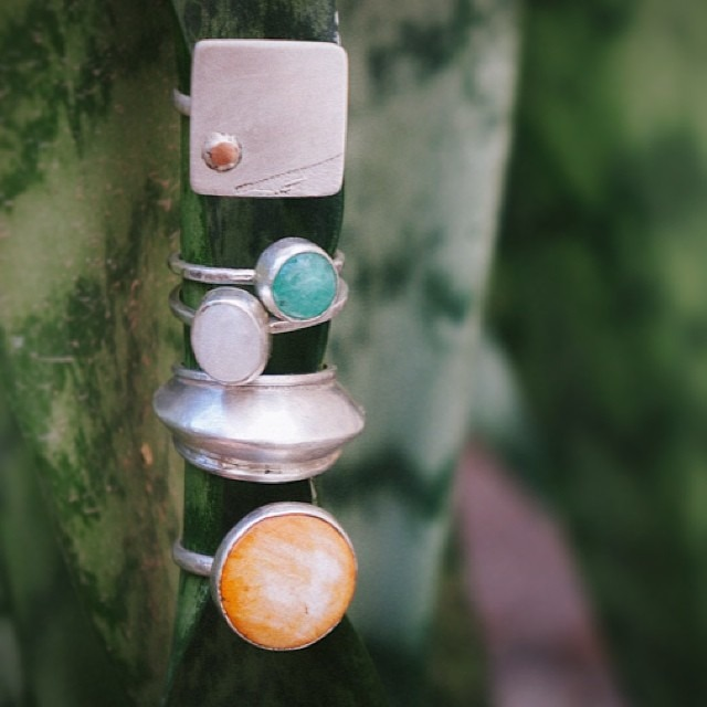 S N E A K P E E K at our December Artisan's ONE OF A KIND handmade collection of rings. Sign up for our mailing list at the bottom of our website for first dibs! #wearart #supportartists (at www.artfulventure.com)