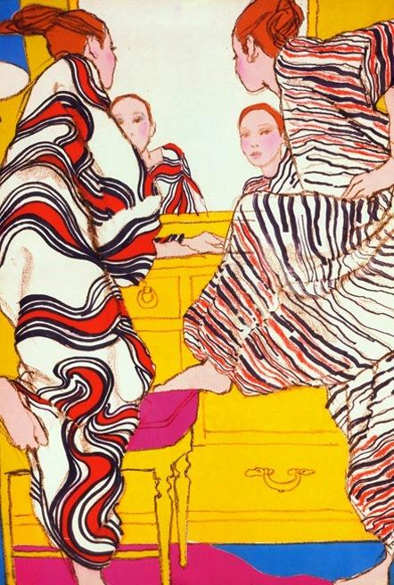 framenoir: Antonio Lopez illustration from British Vogue, 1965. Featured on Style.com.