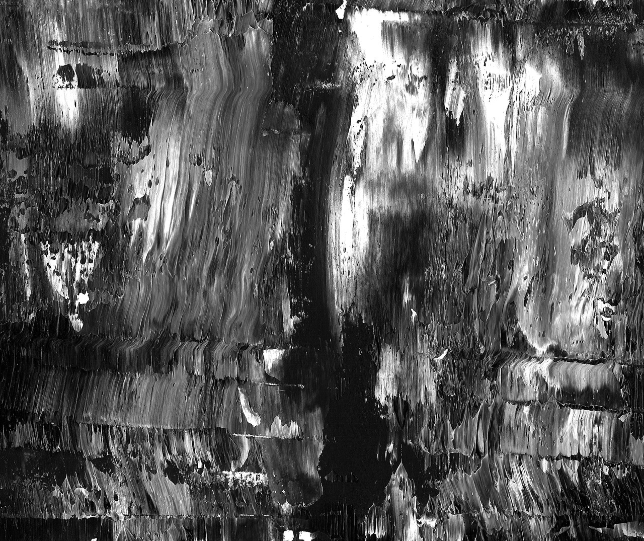 Do a black and white abstract paining clintonmckay: Oil on Rives BFK