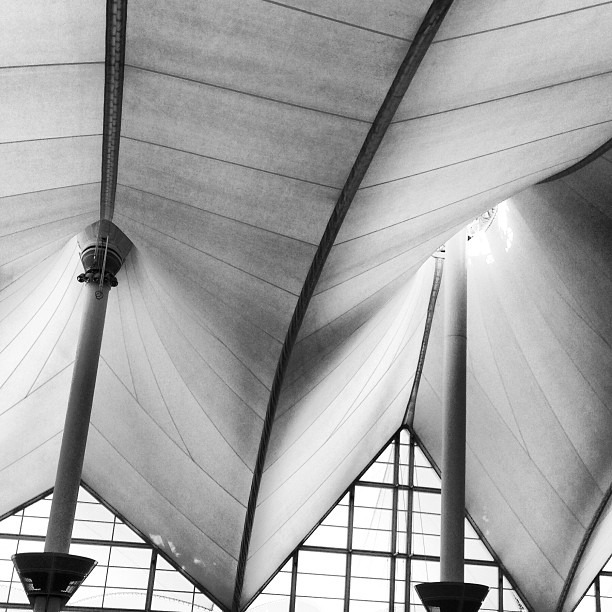 Got from c springs through the airport in exactly 2 hours… Not bad! #colorado #dia #travel #architecture #bw #bw_society #blackandwhite