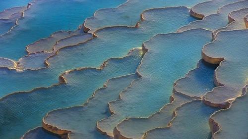 Gorgeous Turquoise Pools of Pamukkale, Turkey. Take me there.