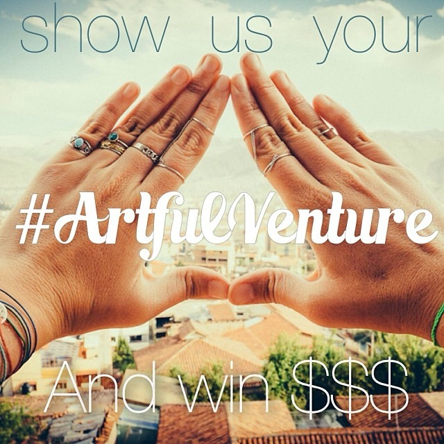 Show us your #ArtfulVenture! Win a $20 gift card to Artful Venture's store, AND be featured on our Instagram page! Post any photos of adventure, art, your unique style, or travel to win! Must tag @ArtfulVenture, and #ArtfulVenture by November 22! Good luck and happy venturing! :)