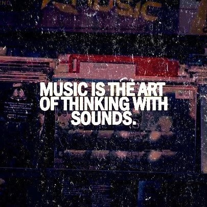 Music is the art of thinking with sounds. Follow for Wanderlust+Indie+Art+Fashion