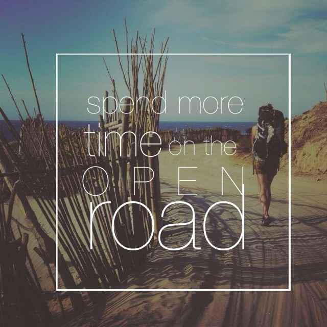 spend more time on the open road. #wordsofwisdomwednesday #openroad #travel #wanderlust