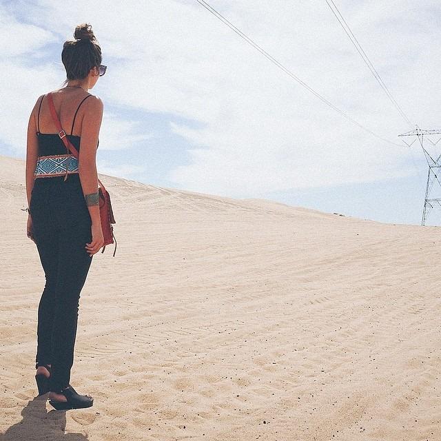 Taking a moment to soak up the California desert. #artfulventure