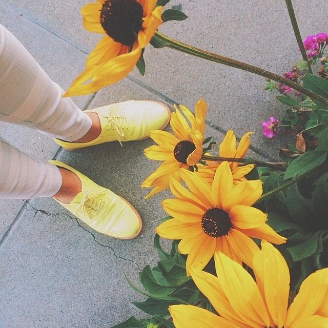 Spring has sprung all over my new yellow shoes. #fromwhereistand #vscovibe
