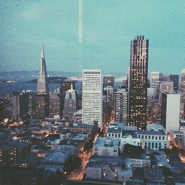 A view from the top in our new city. #artfulventure #city #sanfrancisco