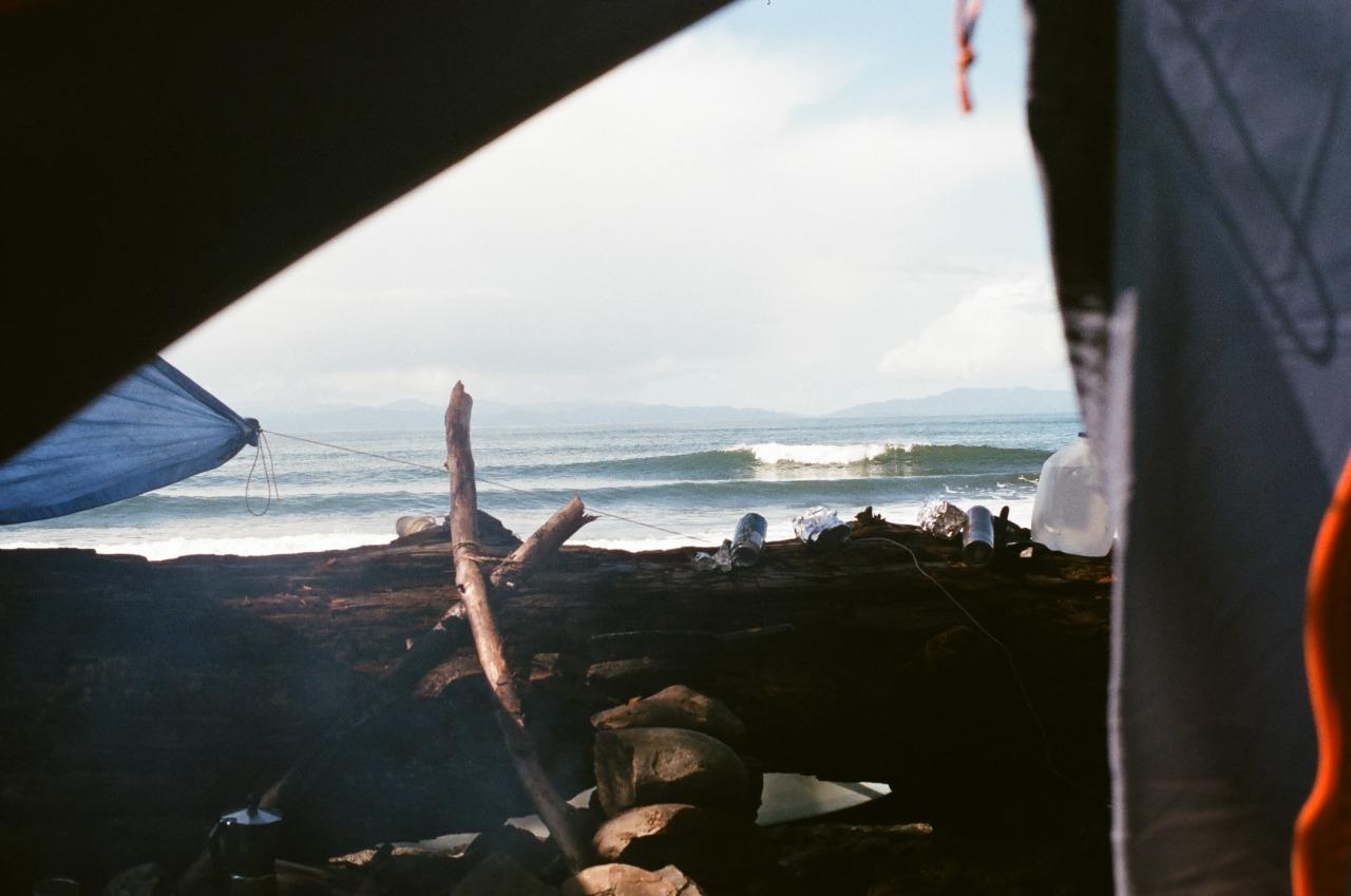 mattzbrantphotos: From my tent. 35mm film.